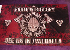 Fahne FIGHT FOR GLORY 1,5 x 0,9 m 2 Ösen Flagge wetterfest Valhalla NEU # F184