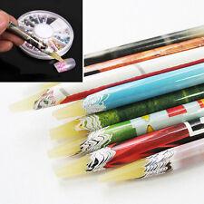 Beauty Pick up Pen Wax Resin Rhinestones Picker Pencil Nail Art Accessory Long E