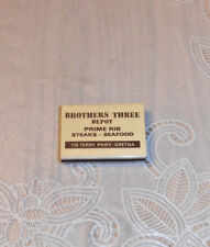 VINTAGE RARE BROTHERS THREE DEPOT RESTAURANT OLD MATCHBOX MATCHBOOK GRETNA LA.