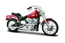 Harley-Davidson 1984 FXST SOFTAIL Rojo Escala 1:18 Modelo De Motocicleta MAISTO