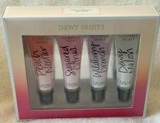 Victoria's Secret***DEWY FRUITS***Flavored Lip Glosses~~~4 Pc Boxed Set~~~NEW