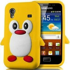 Samsung Galaxy Ace S5830 YELLOW Silicone Penguin Phone Case / Cover