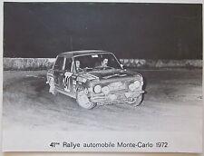 1972 41° RALLY MONTE-CARLO FIAT 128 RALLY foto originale 39 x 29 cm