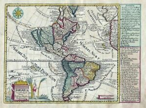 America continent California island Amerika Kontinent map Karte Schreiber 1750