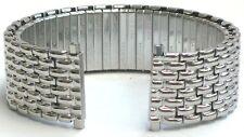 18-22mm Speidel Stainless Steel Silver Tone Twist-o-Flex Stretch Watch Band.