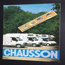 CHAUSSON ACAPULCO 33 35 43 44 47 49 56 58 59  CAMPING-CAR BROCHURE TARIF GERMANY