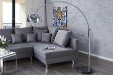 Bogenlampe Stehlampe chrom silber Marmor LATE LOUNGE Design Leuchte o.Dimmer