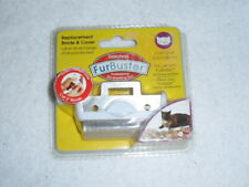 Bamboo FurBuster 2 in/5.08 cm CAT Professional De-Shedding Blade & Cover White