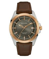 Bulova Men's UHF Precisionist Quartz Rose Gold Case 43mm Wrist Watch 98B267