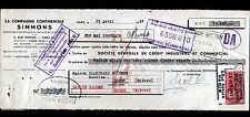 """PARIS (XVI°) SOMMIERS MATELAS """"Cie Continentale SIMMONS"""" en 1951"""