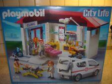 Playmobil 5012 Ambulanz mit Notarzt-PKW Krankenhaus - Krankenwagen City Life Neu