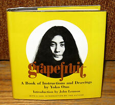 SIGNED Yoko Ono Grapefruit  John Lennon A Book of Instructions and Drawings By