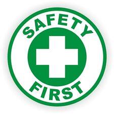 Safety First Hard Hat Decal / Helmet Sticker / Union Laborer Foreman Scaffold