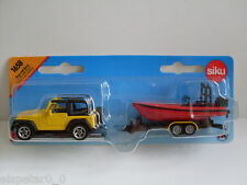 Jeep mit Boot, Siku Super Serie, Art.1658, Neu, OVP