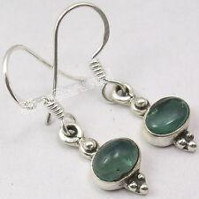 925 Sterling Silver Fancy APATITE WOMEN'S JEWELRY CUTE Dangle Earrings 2.9 CM