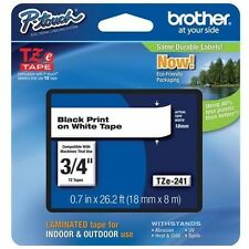 "Brother International Tze241 Label Tape - 0.75"" Width 1 Each"