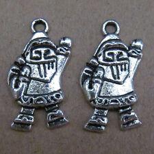 10pc Tibetan Silver Dangle Charms Santa Claus Beads Accessories Findings BO67P