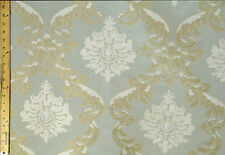 """Light Blue Emilia Floral 57""""- 60"""" inch 100% Polyester By The Yard Drapery"""