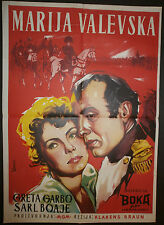 CONQUEST 1937 Greta Garbo Charles Boyer YUGOSLAVIAN MOVIE POSTER