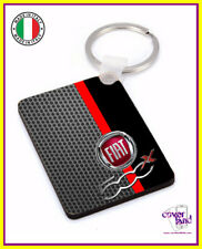 Portachiavi, portachiave con anello FIAT 500X CARBON - Keychain