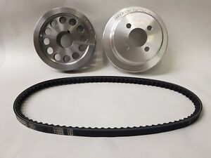 FORD PINTO ALLOY WATER PUMP AND STEEL CRANK PULLEY KIT