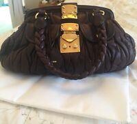 Miu Miu Large Leather Coffer Matelasse shoulder bag handbag vintage. Beautiful