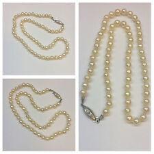 Collana di perle 333 ER fibbia in oro Akoya perle con serratura