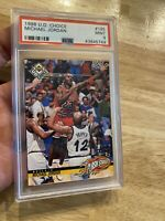 Michael Jordan PSA 9 Minty Mint Upper Deck 1998 #185 Flash Stats INVEST Goat NR