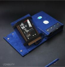 For Chord HUGO 2 II AMP & MP3 Alcantara Genuine Leather Case Cover Stand - Navy