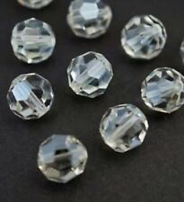 12 pieces Swarovski Element 5000 faceted 8mm Round Ball Beads Crystal Clear
