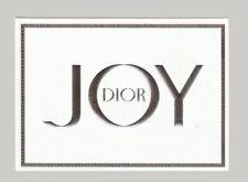 Nouvelle carte à parfumer  - perfume card  - Joy de  Christian Dior