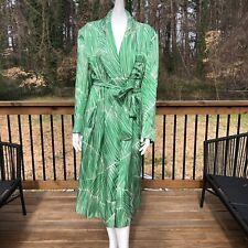 Vintage Maus & Hoffman Green White House Coat Robe One Size Euc