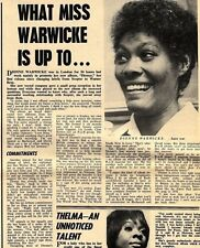 29/1/72D10 Article : What Miss Dione Warwick Is Up Too