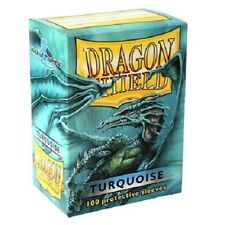 Dragon Shield Standard Size Card Barrier Protector Sleeves 100ct - Turquoise