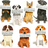 DOG BIRTHDAY CARD / 3D Die Cut Blank Greeting Message Newspaper Note Animal Gift