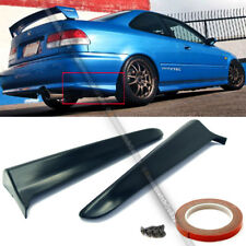 Fit 99 00 2DR EK Civic M Style Rear Bumper Lip Kit Spats Cap Valences Apron