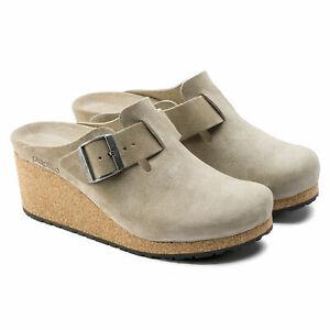 Birkenstock Papillio Fanny Suede Leather Clogs N3360 Size 7 M *
