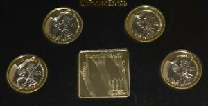 2002 Proof Manchester XVII Commonwealth Games 4 Coin £2 Info & Box - Royal Mint