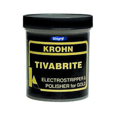 TIVABRITE ELECTRO STRIPPING POWDER POLISHING PLATING JEWELRY GOLD METAL CLEANING