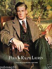 Publicité advertising 1989 Pret à porter Homme Polo Ralph Lauren
