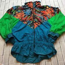 90s VTG nwot All Over BAROQUE Print M COLORBLOCK Jacket Windbreaker HIP HOP