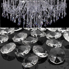 50pcs Clear Glass Crystals Chandelier 14MM Drops Hanging Parts Prisms Lamp