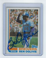 1982 BREWERS Ben Oglivie signed card Topps #280 AUTO Autographed Milwaukee