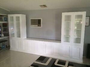 """Bomi-2.0"" Integrated TV Entertainment Wall Unit Bookshelf Living Room Furniture"