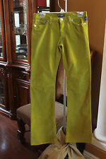 Versace Jeans PANTS TOUSERS Couture GREEN Corduroy Boot Cut Women's Jeans 28  42