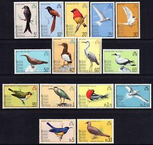 British Indian Ocean Territory 1975 Birds set of 15 MUH