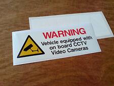 VEHICLE ON BOARD CCTV Video Camera Van Truck Car WINDOW Sticker 1 off 130mm