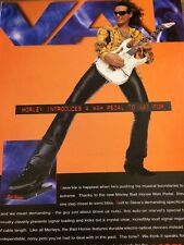 Steve Vai, Morley Pedals, Full Page Vintage Promotional Ad