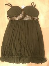 Olive Green Dress With Studs, Size L