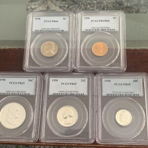 Complete 1958 Proof Set Graded By Pcgs B-16